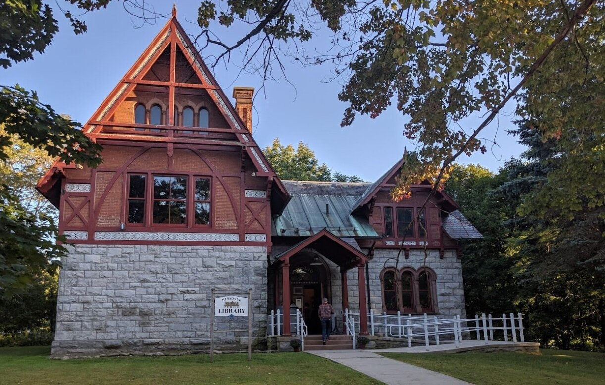 What an unusual and lovely library they have in Hinsdale.
