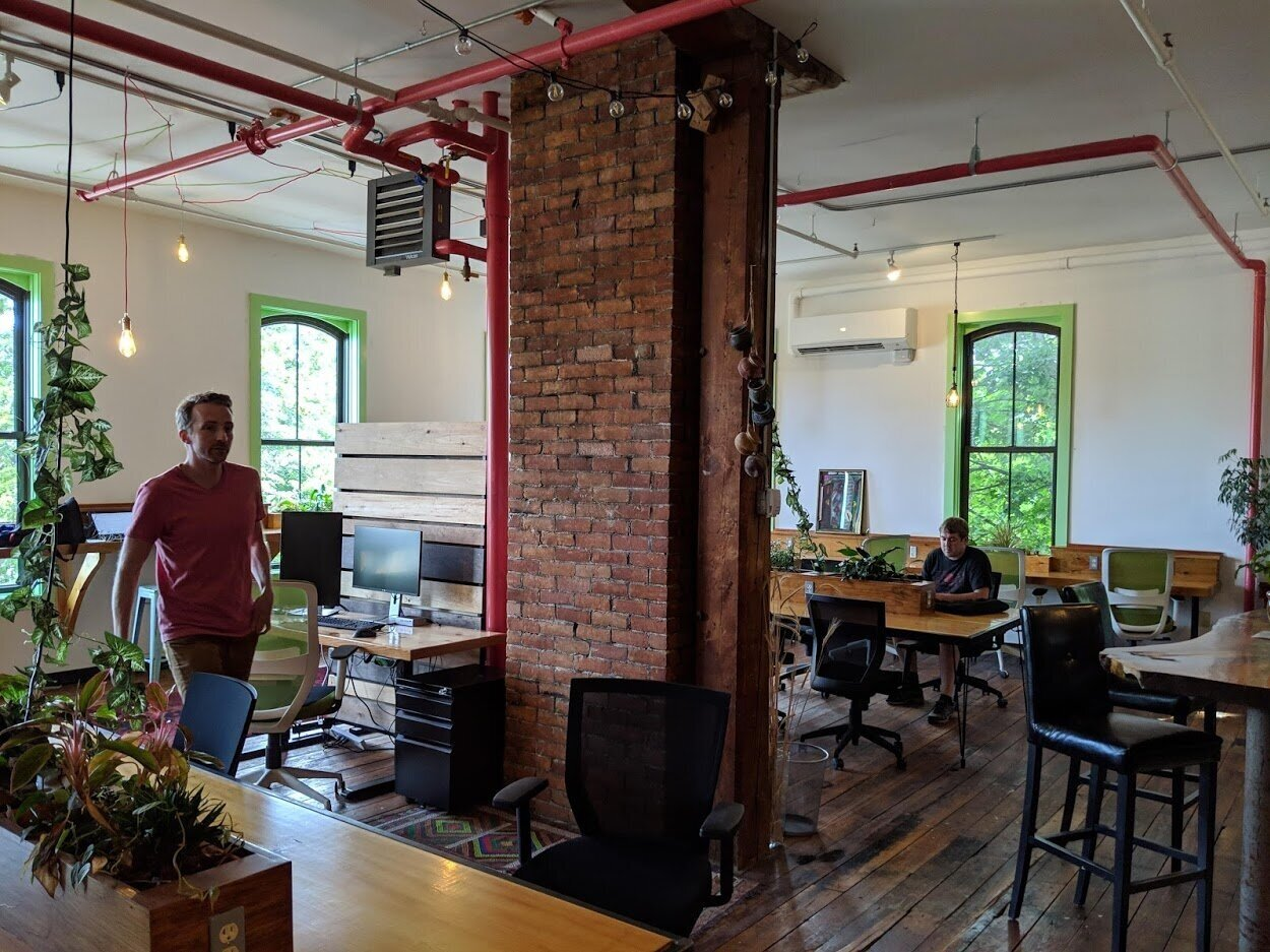 The comfortable Greenspace co-working space.