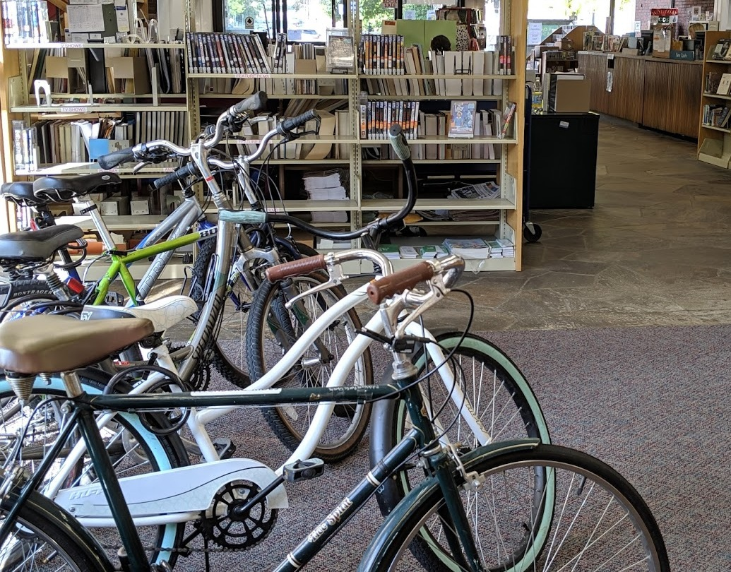 Bikes and Books in Fitchburg.