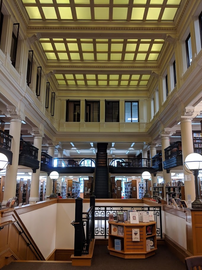 The interior of the Springfield Central Library.