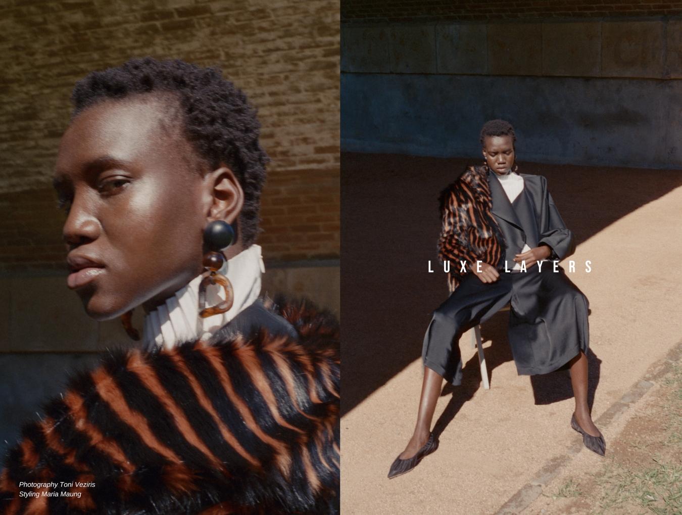 Jacket Toteme, Coat Unreal Fur, Earrings Valet, Shoes Acne studios