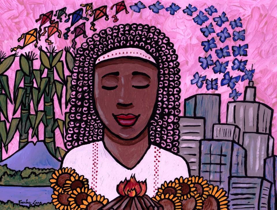 A Salvadoran Heart  by  Carlos Lara