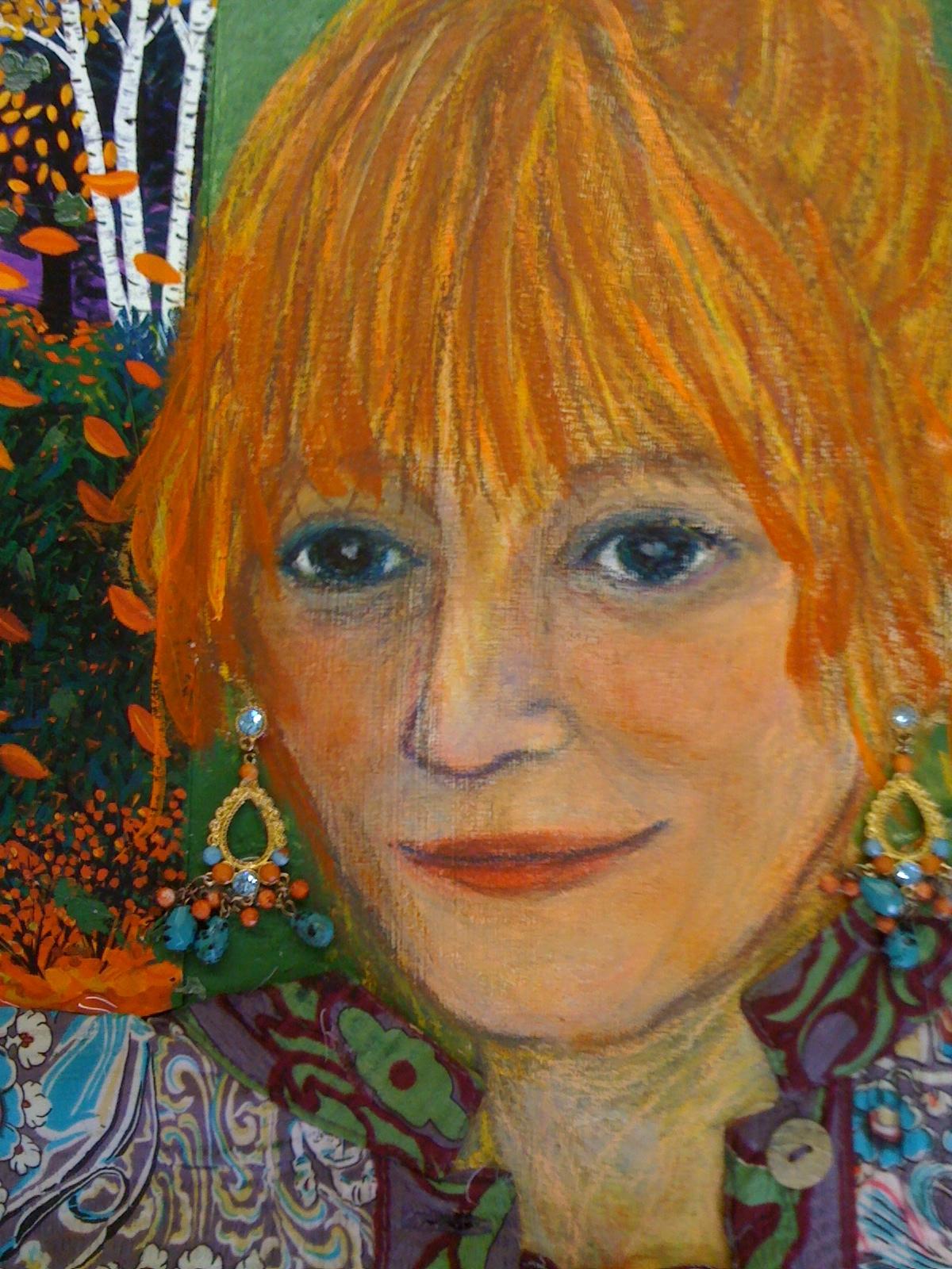 Evelyn Berde, self-portrait