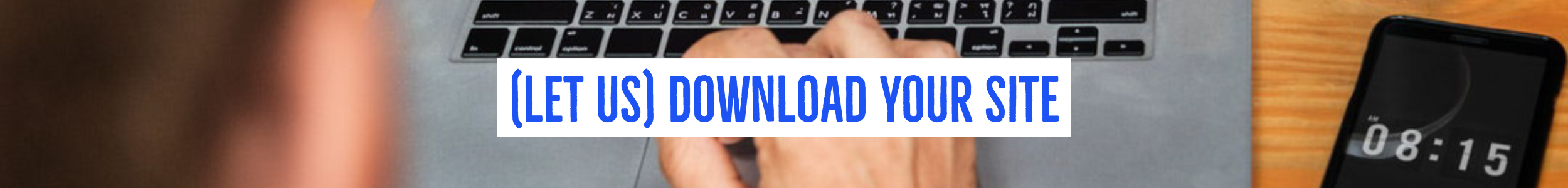 Want us to download your whole site? We can do this for you!