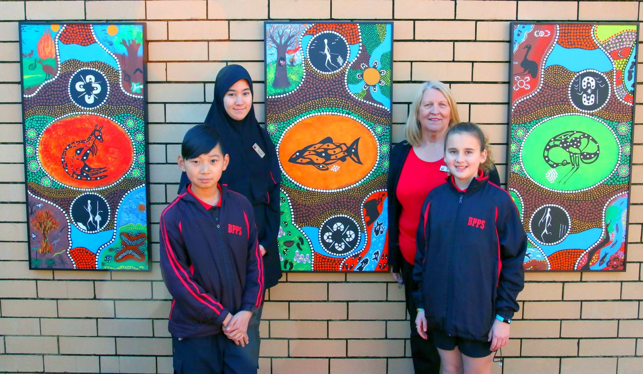 Six Seasons Mural- Bramfield Park P.S. - Bramfield Park Primary School commissioned a mural featuring the Noongar Six Seasons. This was a collaboration between the artists and school students.