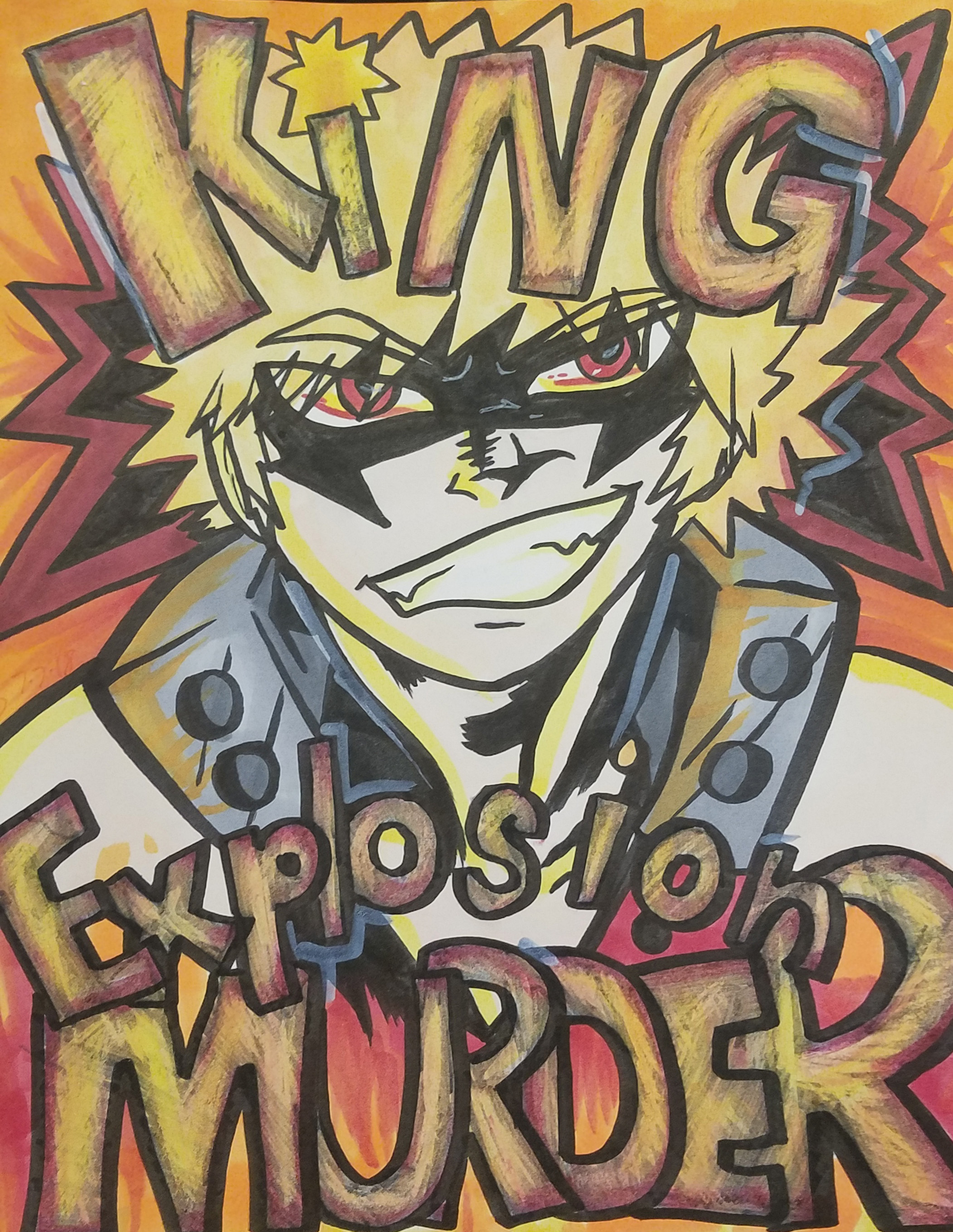 King Explosion Murder!  - I was working on the sketch when a cosplayer came up to me - he wanted to buy it!