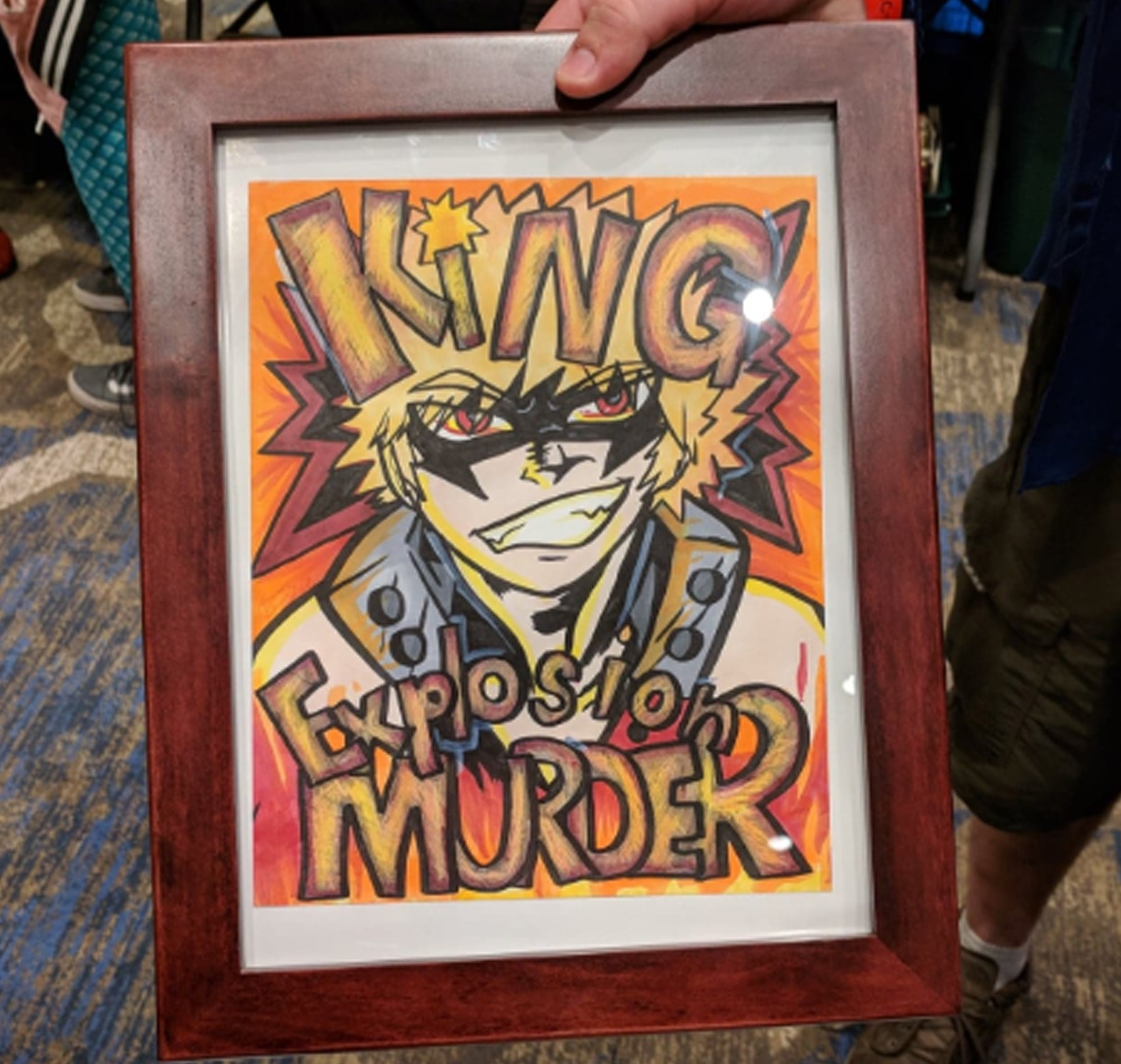 They got it framed!! In the time that I was gone, these crazy dudes took the art to Michael's, bought a frame, and brought it BACK to show us! I wish I could have been there XD I never did find out what they're friend thought!
