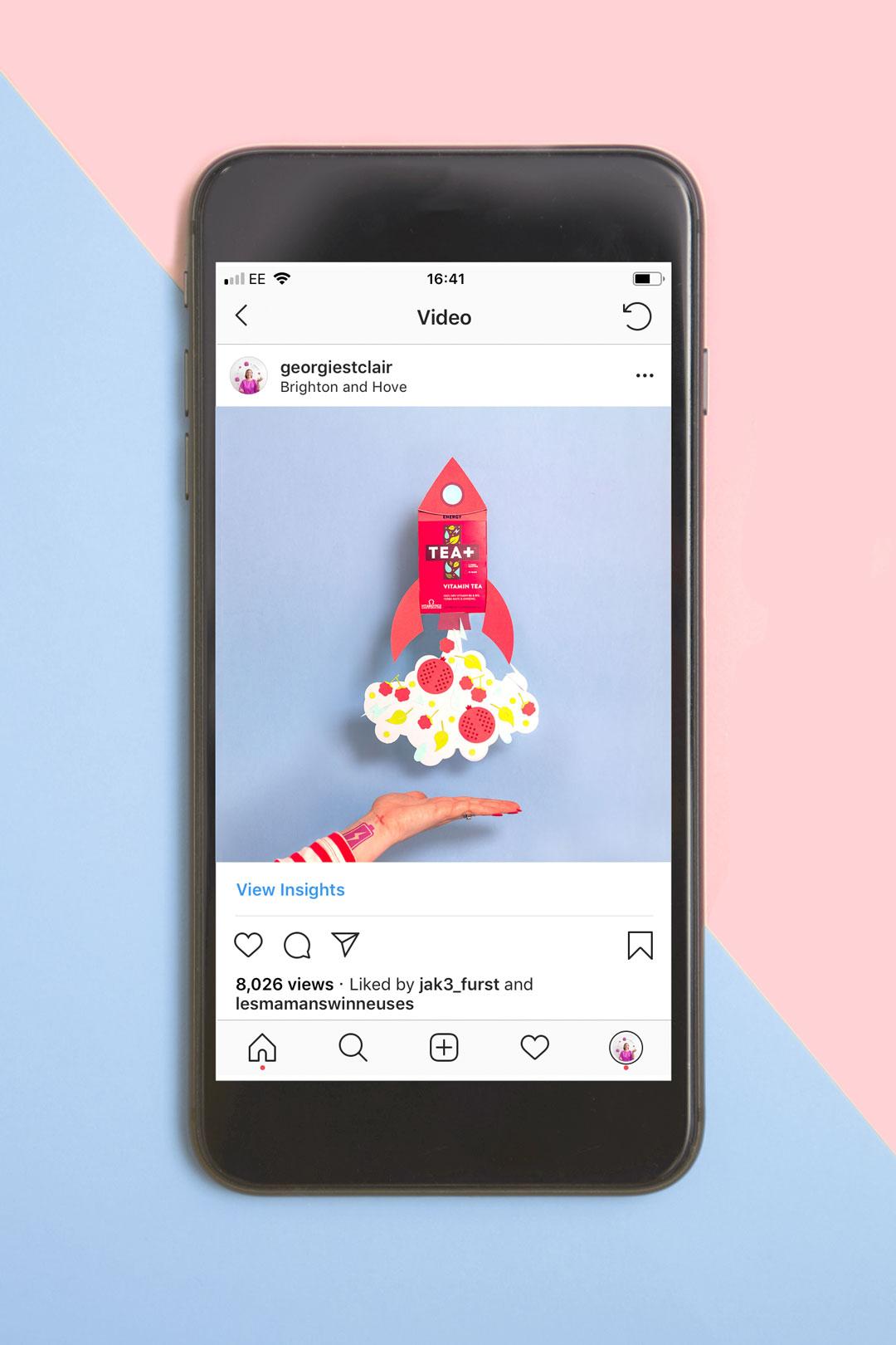 Tea Plus Creative Photography Instagram Phone Mockup | Georgie St Clair Portflio