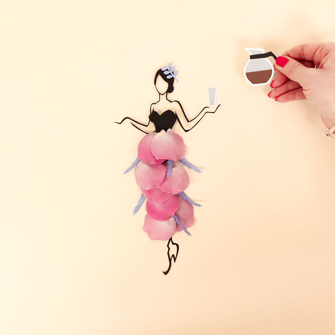 Sassy Du Fleur with Coffee Stop Motion Animation