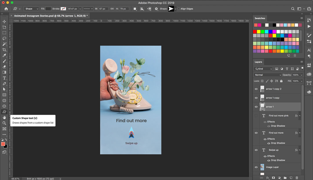 Custom Animated Stories for Instagram, using Photoshop and the custom shape tool | Georgie St Clair