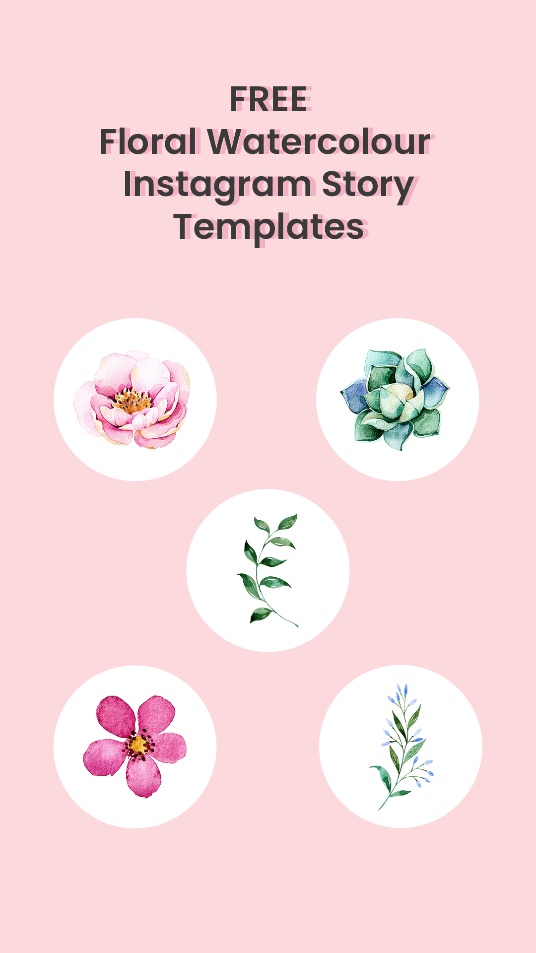 Free Floral Water Instagram Story Templates Pin For Later | Georgie St Clair