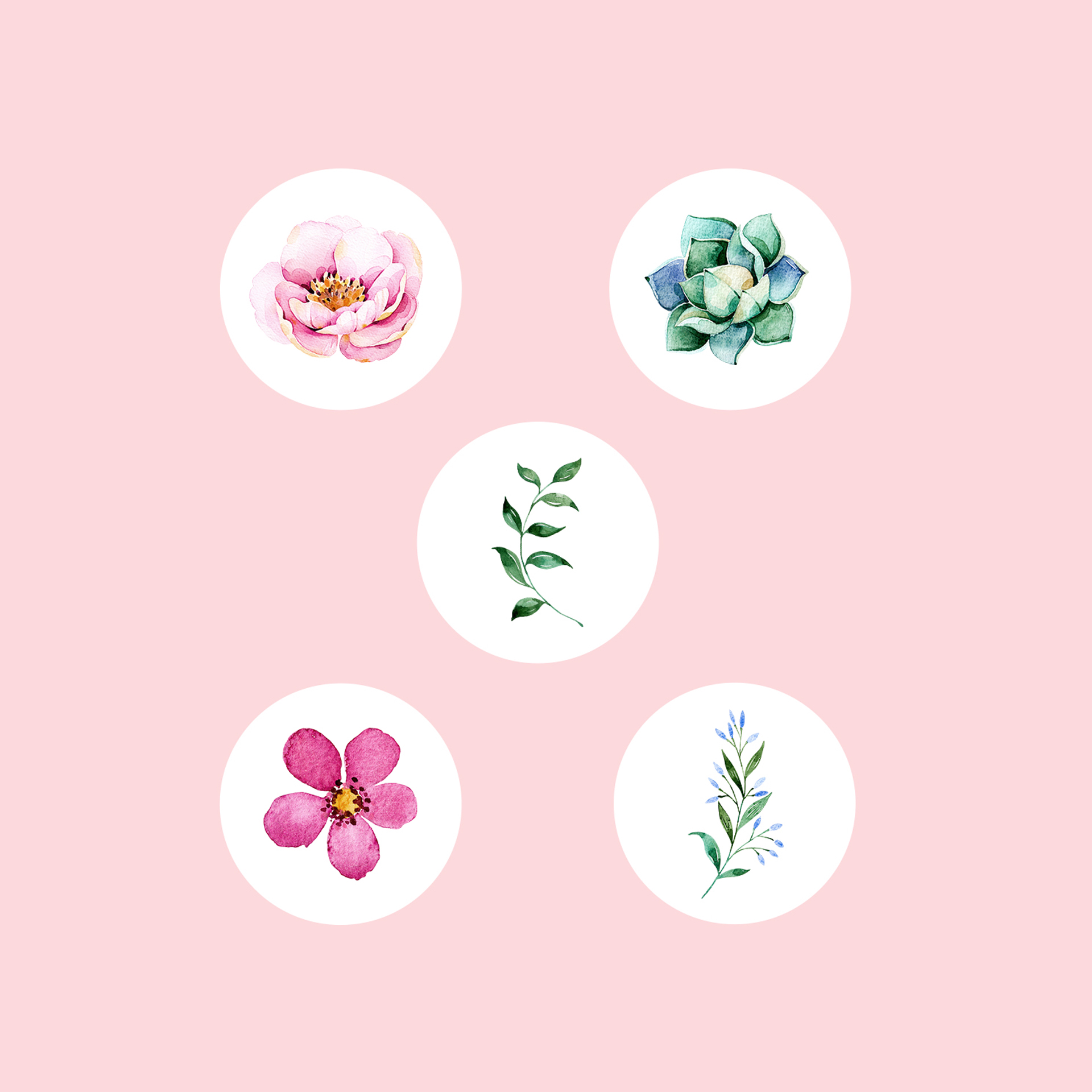 Style Your Screen: FREE Floral Watercolour Instagram Story Templates