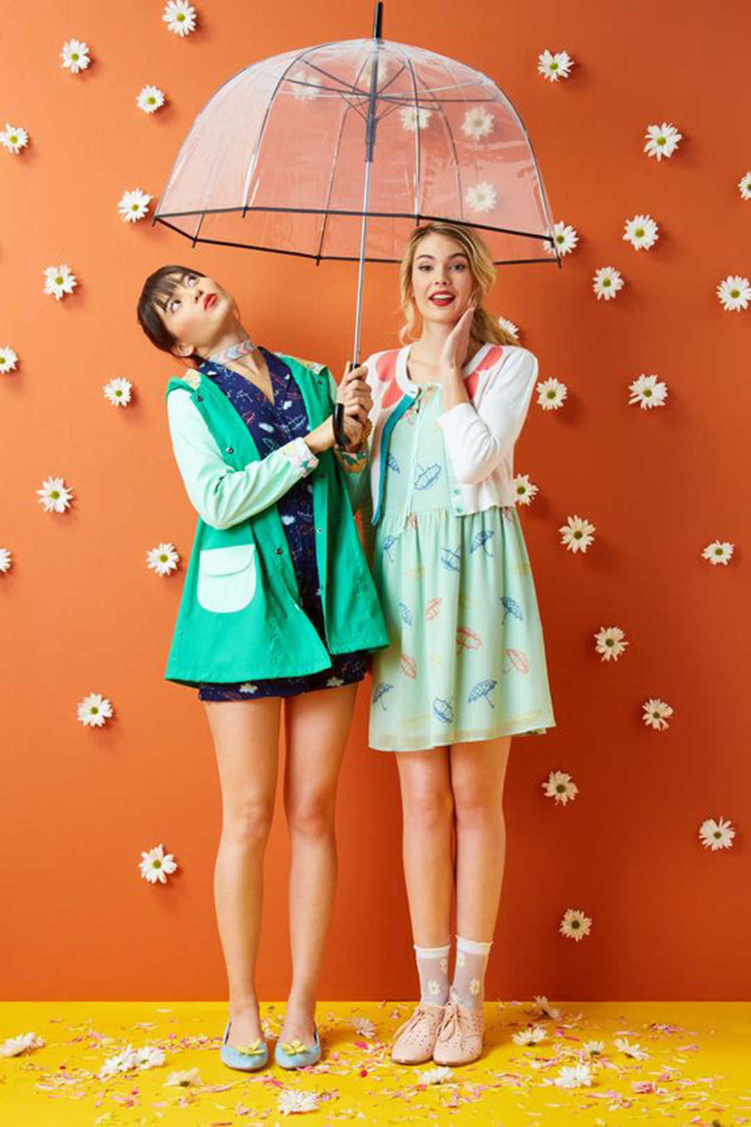Clothes make perfect props for spring photography. Styled by Modcloth.