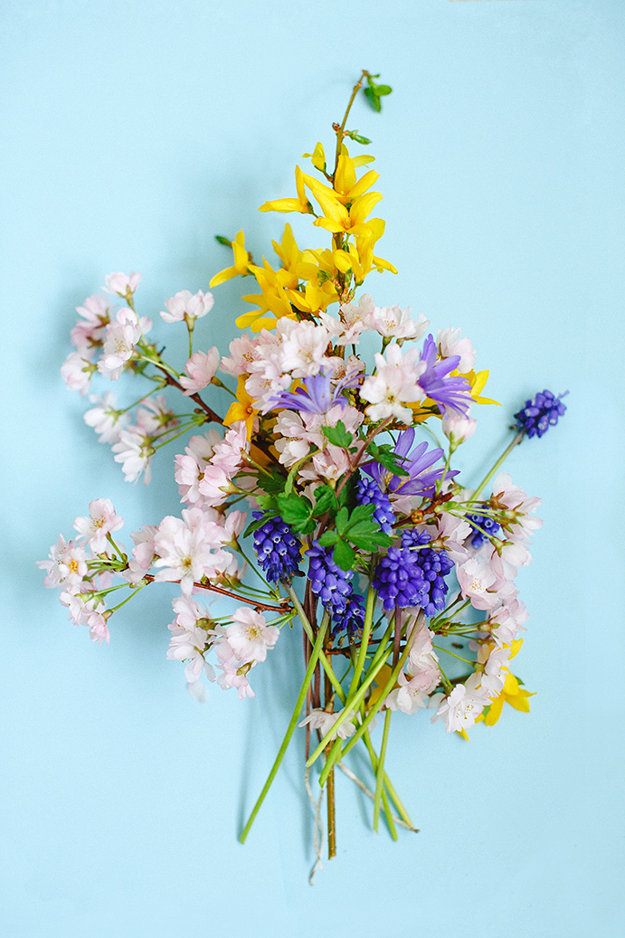 Pretty Spring Flowers styled and photographed by Marianne-Taylor.