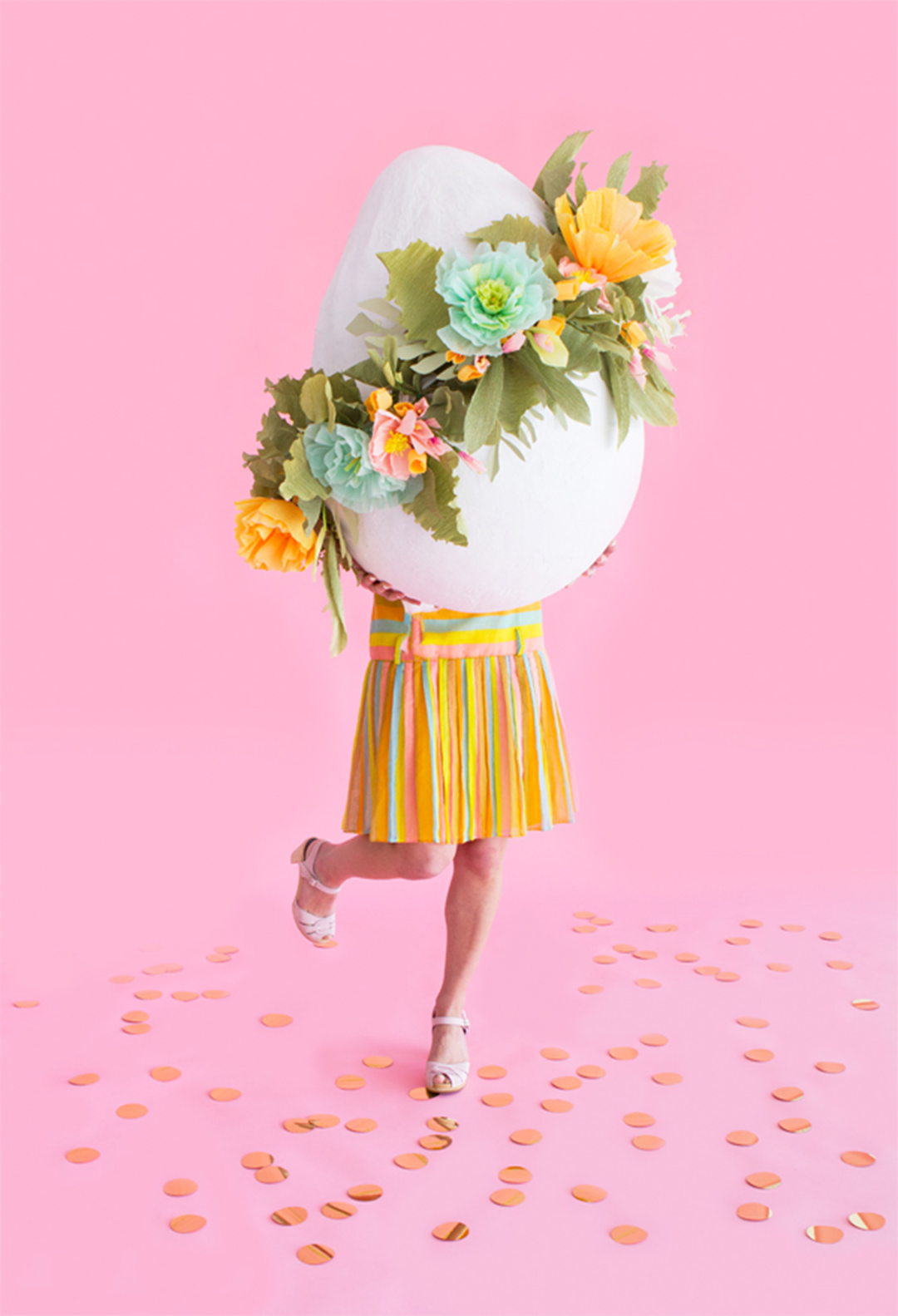 Giant floral easter egg by  Oh Happy Day .