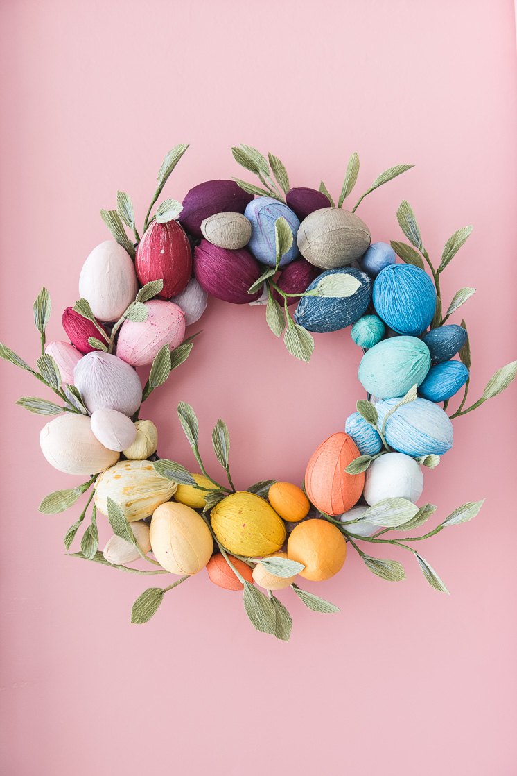 Spring Easter Egg Wreath by House That Lars Built.