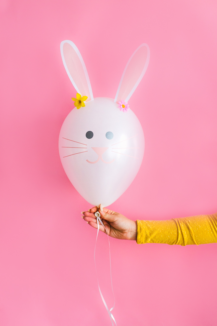 DIY Bunny Balloons from Bespoke Bride.
