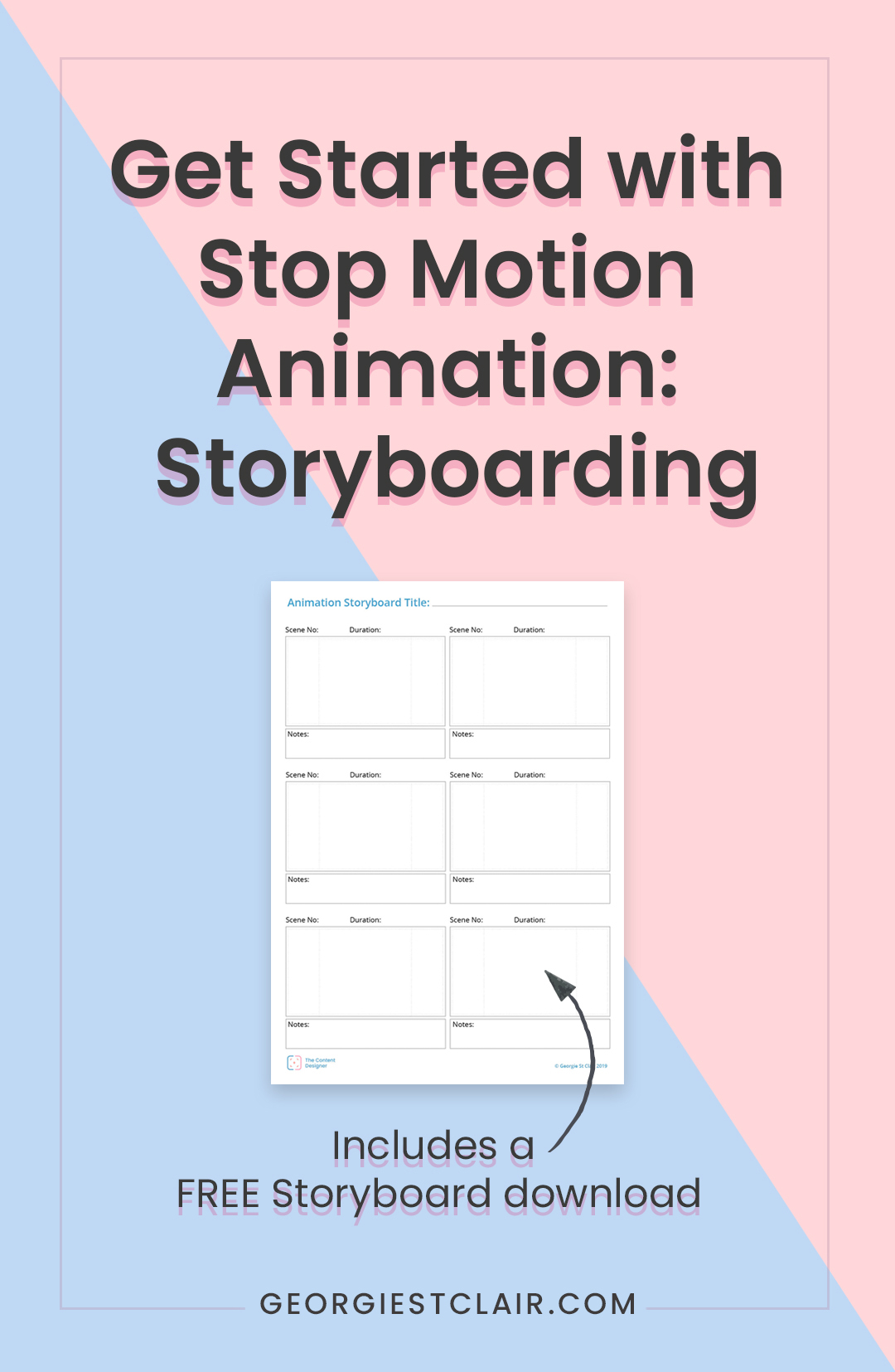 Get Started with Stop Motion Animation - Storyboarding. Includes a free download | The Content Designer Blog
