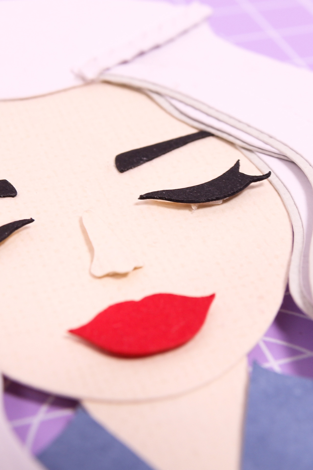 Close up of paper portrait of Daenerys Targaryen | Georgie St Clair, Stop Motion Animation