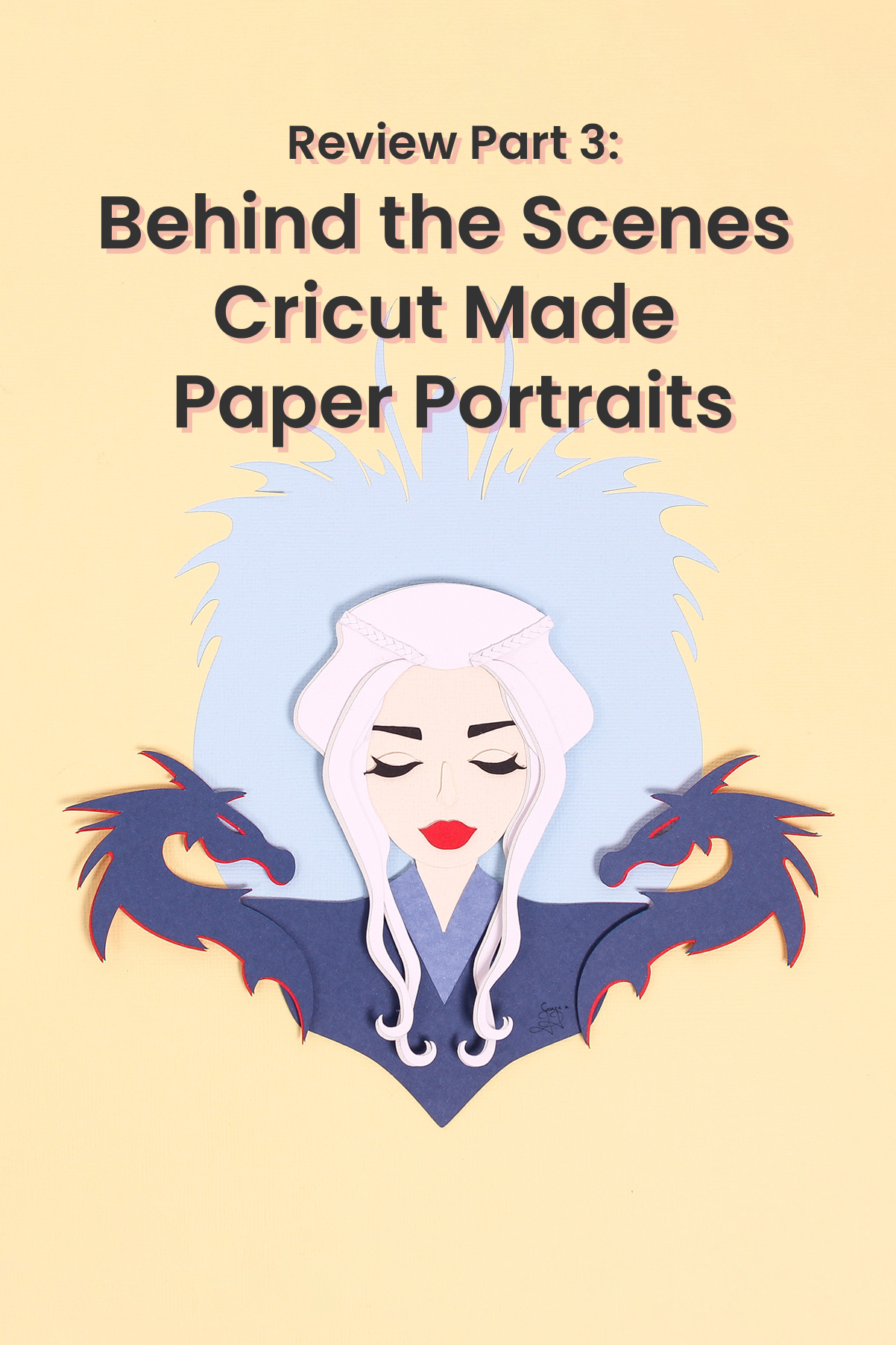 Daenerys Mother of Dragons Paper Portrait Stop Motion Animation, Behind the Scenes | Georgie St Clair, stop motion animation