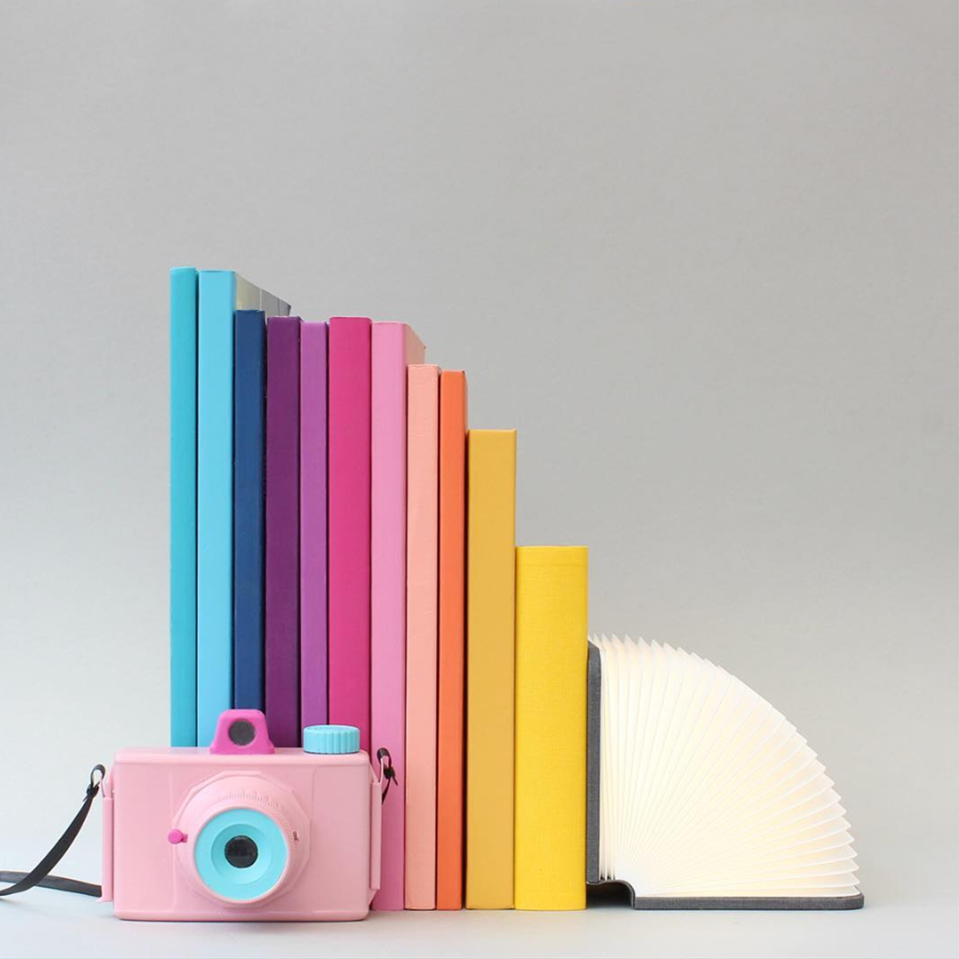 Masters of Instagram Content Creation: Caroline South | Composition with books and camera