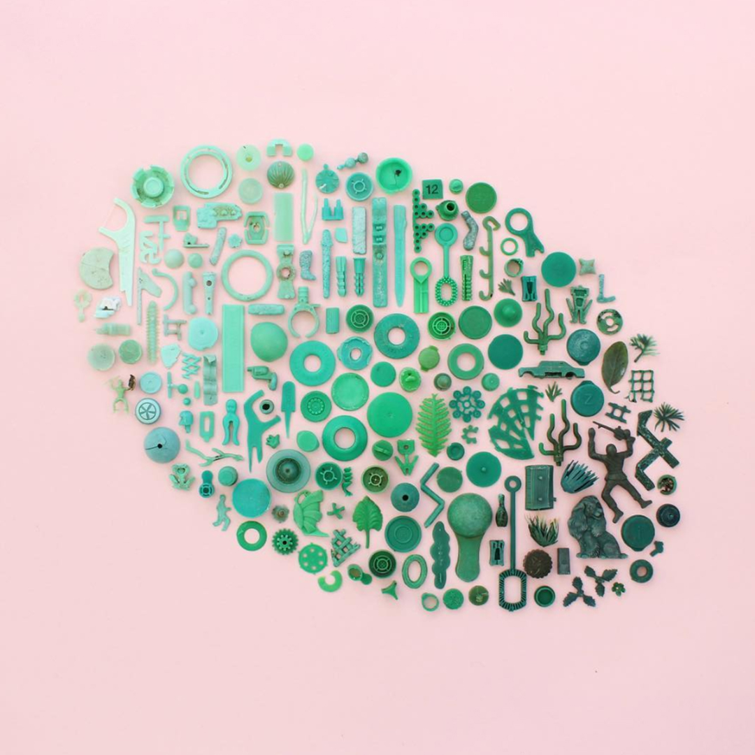 Masters of Instagram Content Creation: Caroline South | Recycled beach plastic in green
