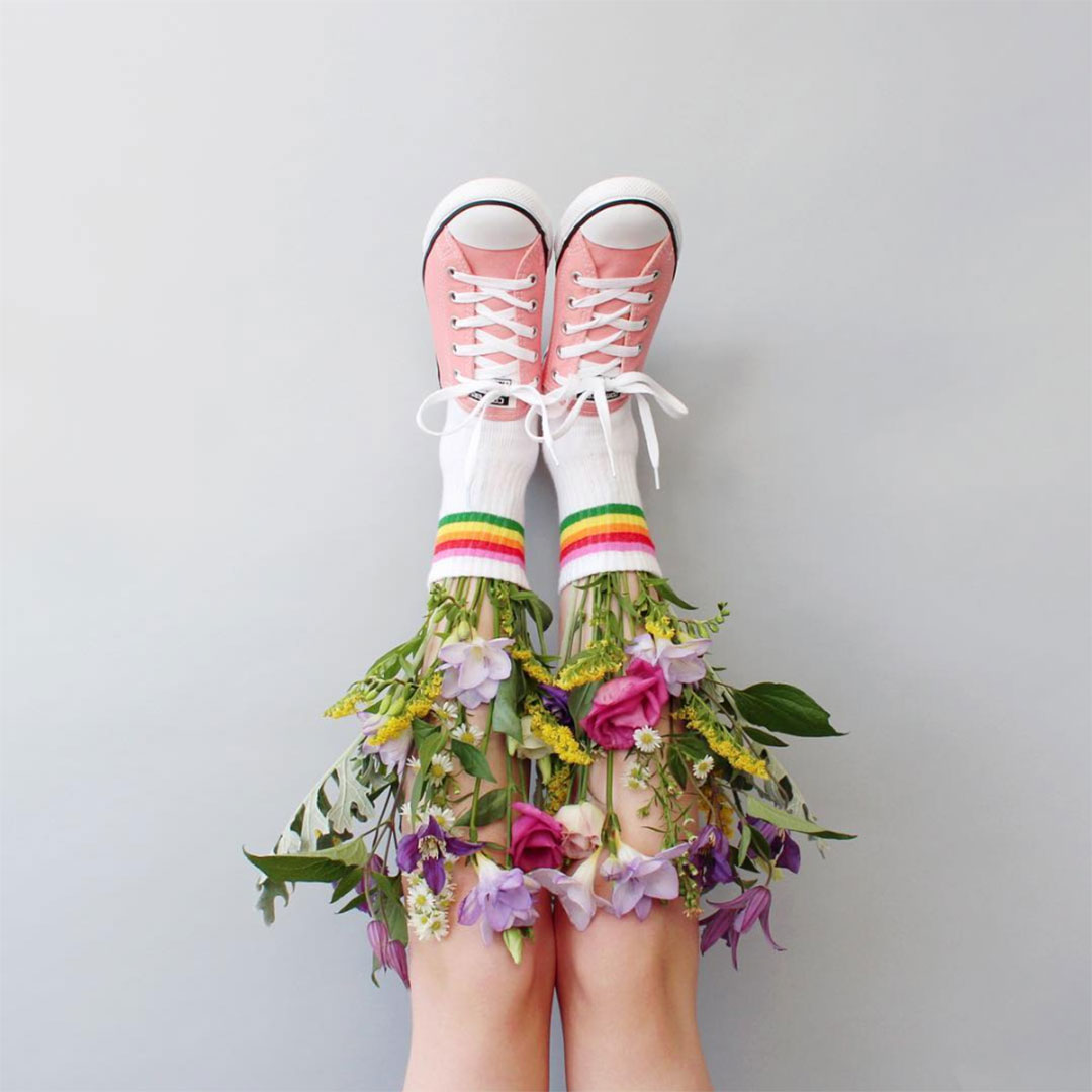 Masters of Instagram Content Creation: Caroline South | Flowers and trainers