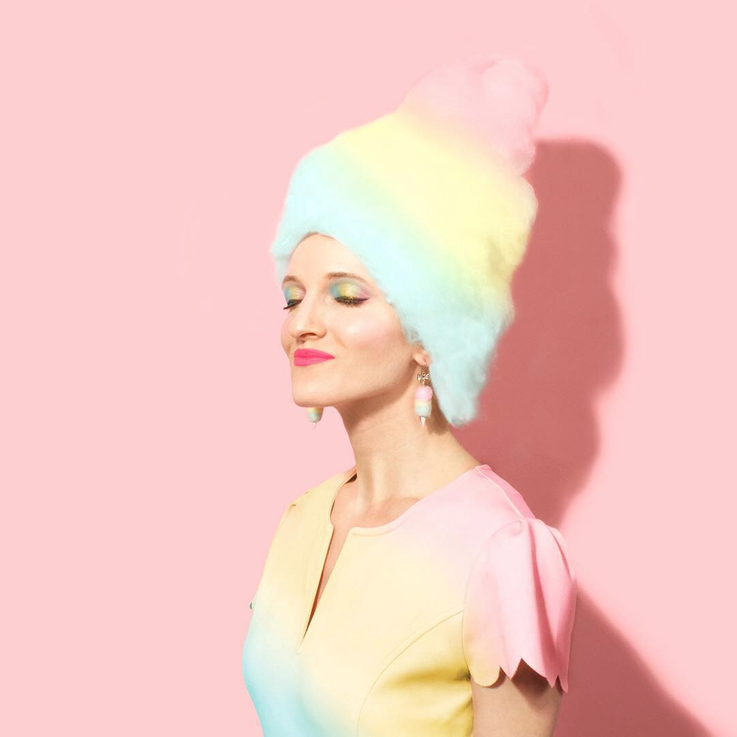 Masters of Instagram Content Creation: Amy Shamblen | Self portrait with ice cream hair!