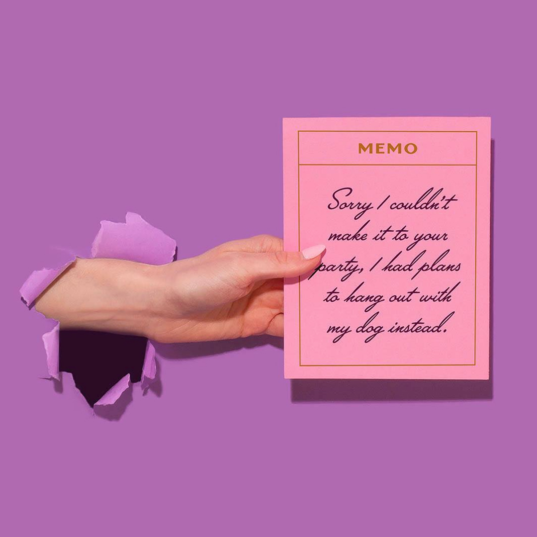 Masters of Instagram Content Creation: Amy Shamblen | Sorry card in pink and purple