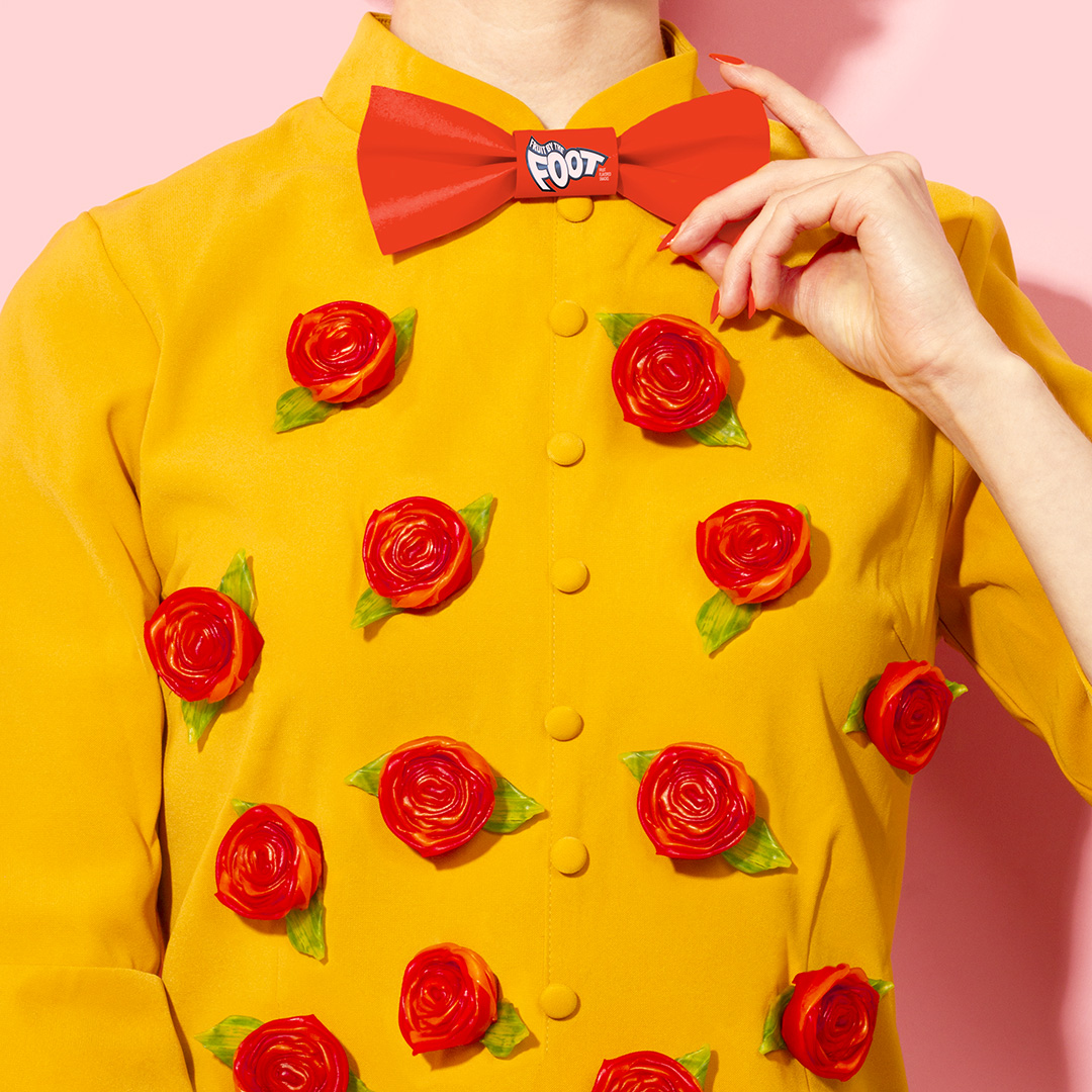 Masters of Instagram Content Creation: Amy Shamblen | Sweetie bow tie on a yellow shirt