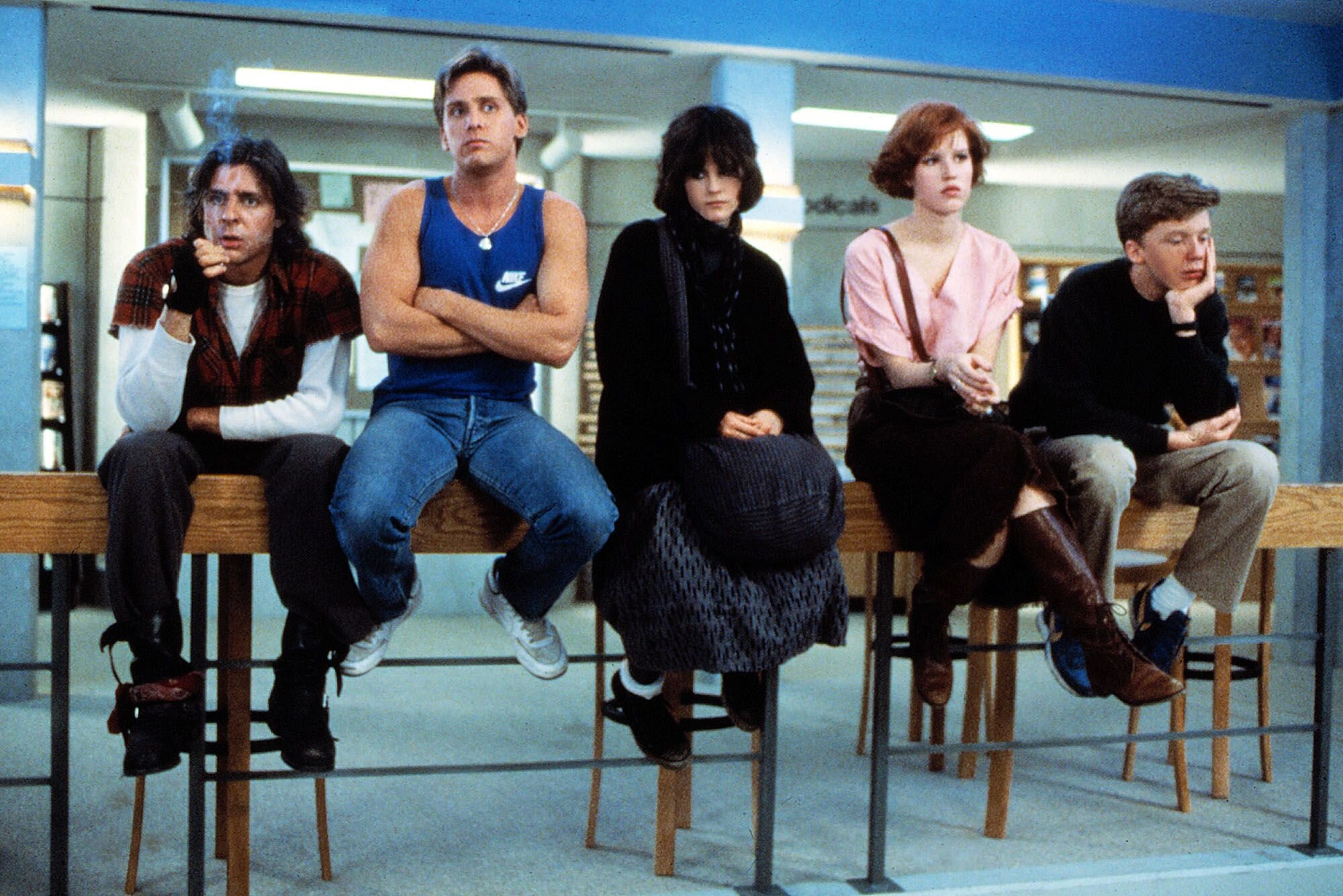 A criminal, an athlete, a basket case, a princess and a brain. Image credit: Universal Pictures