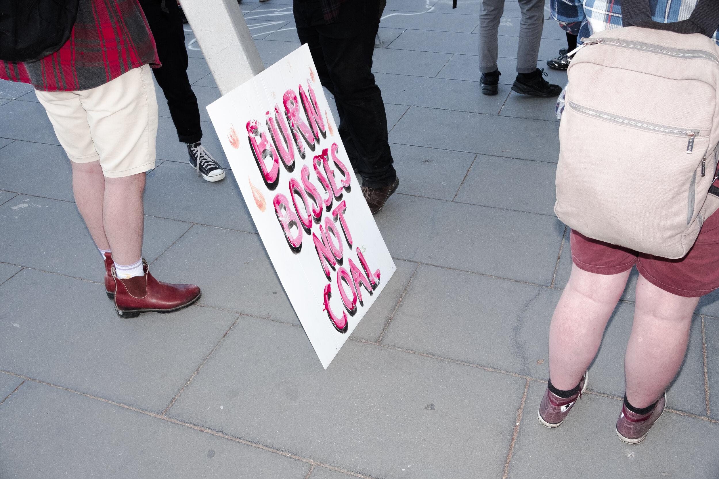 A protest sign. (Photo: Jeremy Gan)