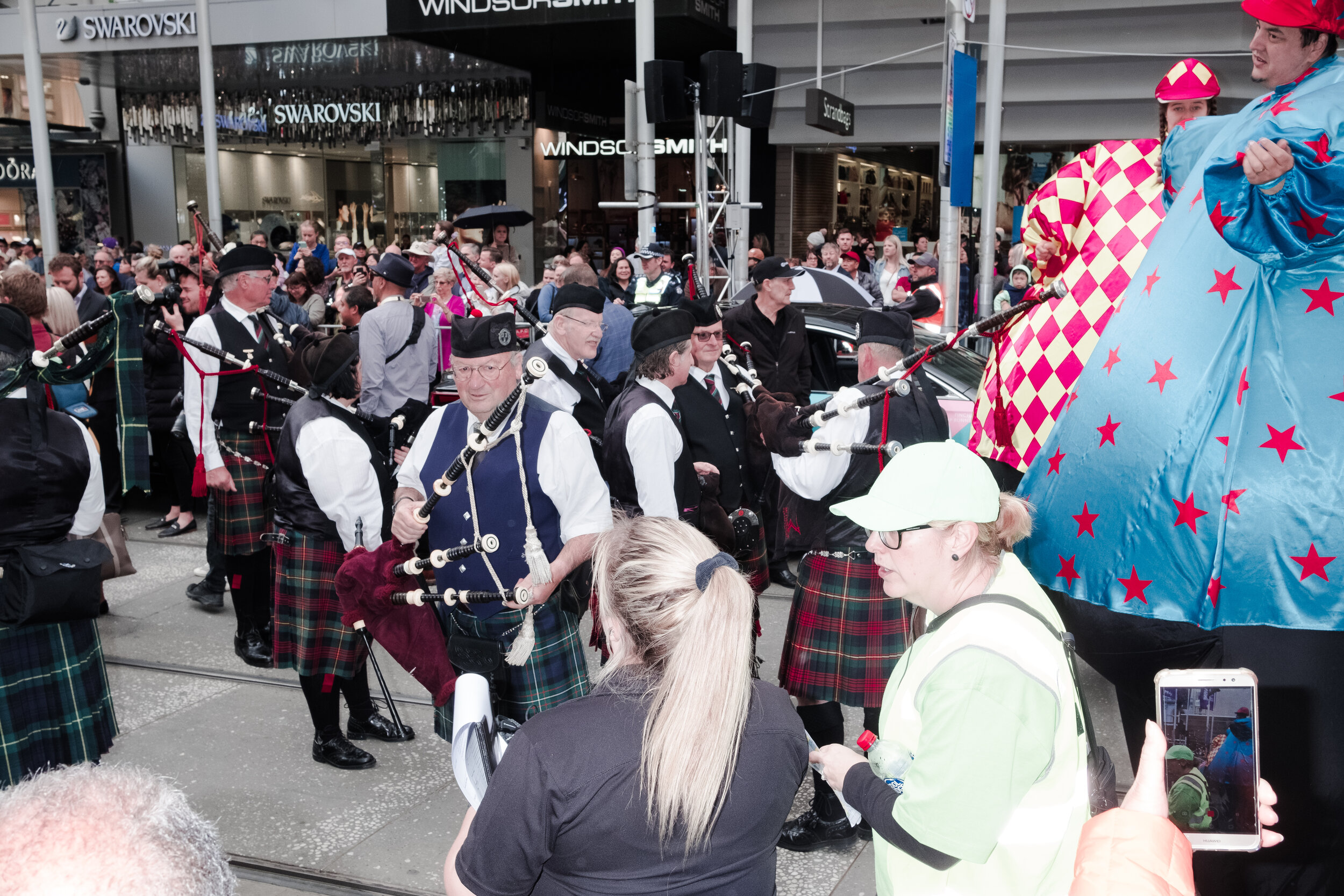 Performers prepare for the parade march. (Photo: Jeremy Gan)