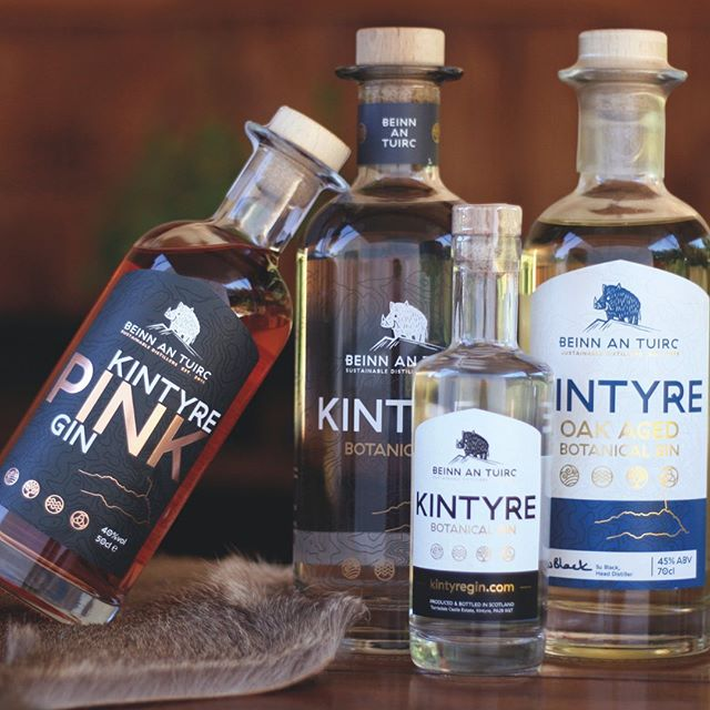 Kintyre Gin is sustainably produced using renewable energy, powered from a small hydro-electric scheme at Torrisdale Castle Estate in Kintyre, where our distillery is located.  We source our water from the eponymous hill, 'Beinn an Tuirc'  which translates from gaelic as 'The Hill of the Wild Boar' and is the highest point in Kintyre, located above our distillery building. Sustainability is key to our business and we also have a dedicated tree plantation near the distillery where we plant oak trees to offset any carbon used in our processes. Community is also a key strand of what we do and we have pledged to support local enterprises and start-ups when we are in a position to do so. As part of this pledge we sponsor the newly formed Beinn an Tuirc Kintyre Pipe Band. ⠀ ⠀ Kintyre Gin rolled off the production line in 2017 and since then we have added several more craft spirits to our range and opened a distillery shop where we also offer regular tours. Another goal is to encourage more visitors to our remote and lesser known part of Scotland which would benefit not just ourselves but many other local businesses. ⠀ -⠀ -⠀ -⠀ #kintyregin #kintyre #gin #scotland #handmadefestival