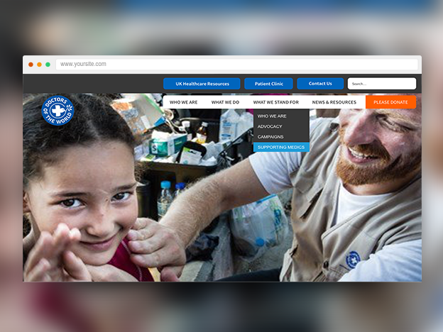 Website redesign for a national charity