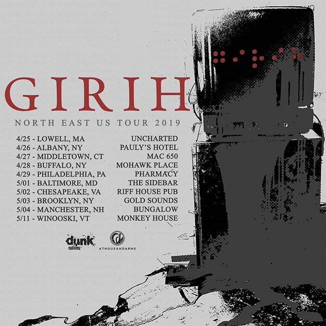Here we go. @girihband tour, heading out to lay down our first album for some new ears. Find your date and come listen.
