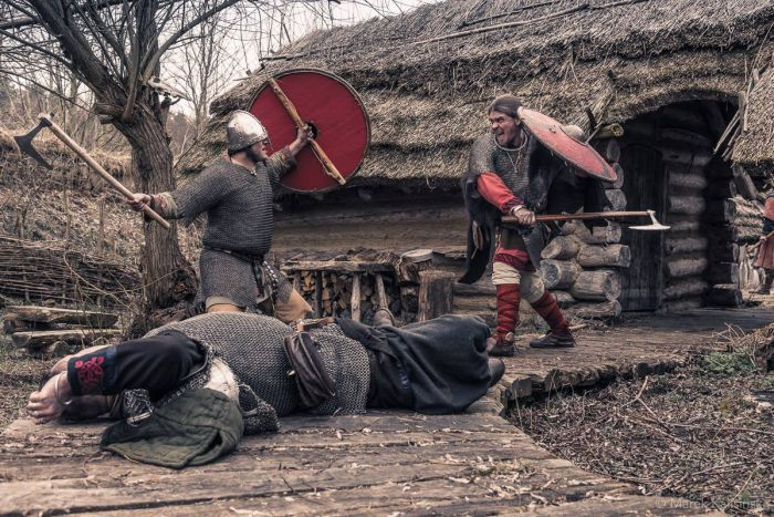 Duel with two axes