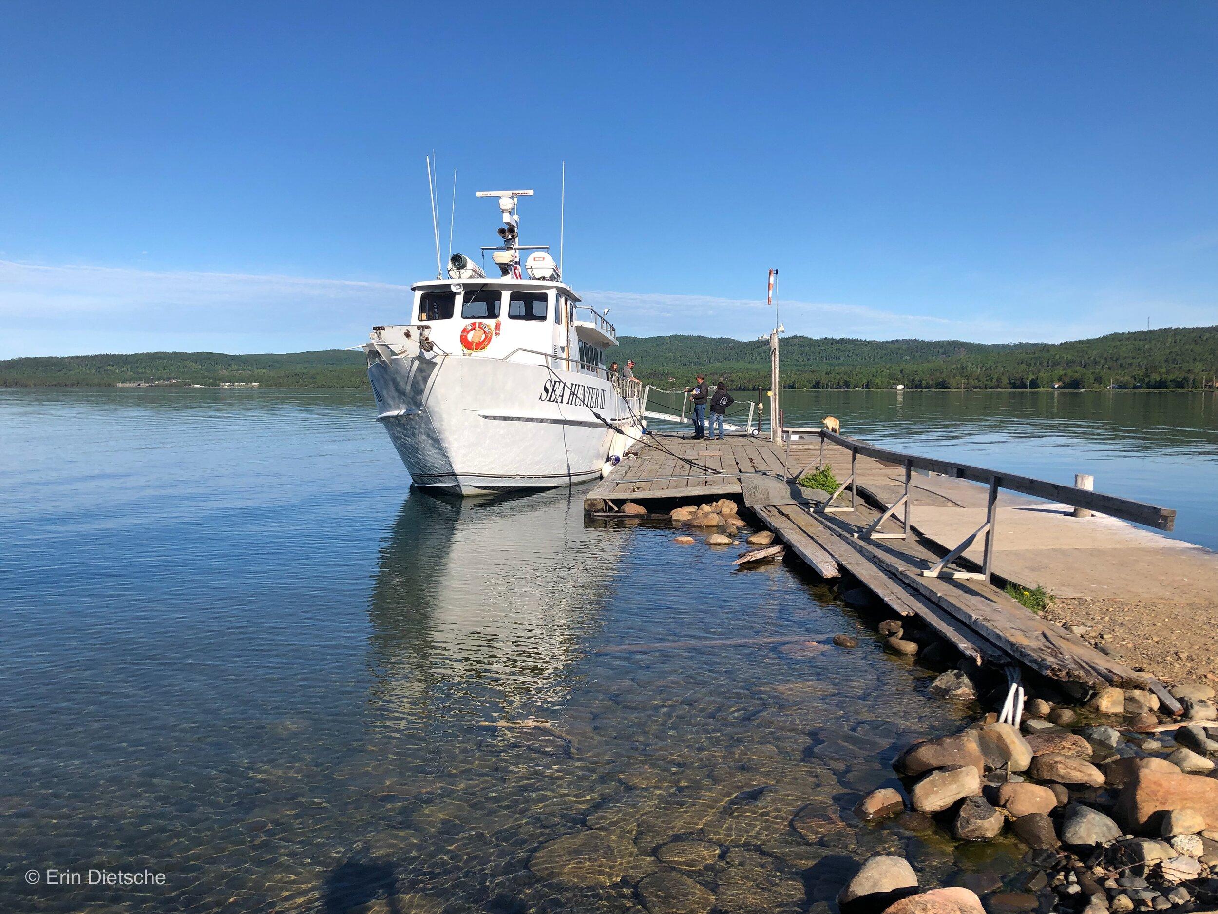 The Sea Hunter III in Grand Portage, Minnesota