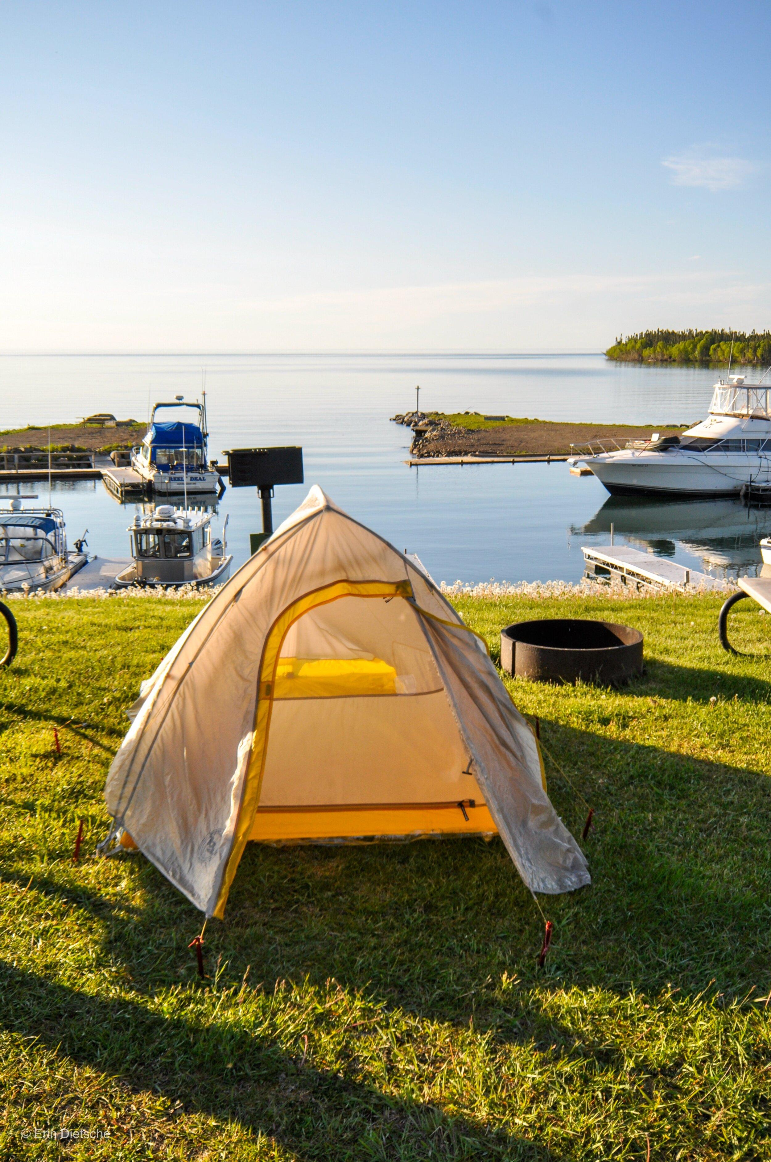 Our campsite in Grand Portage, MN