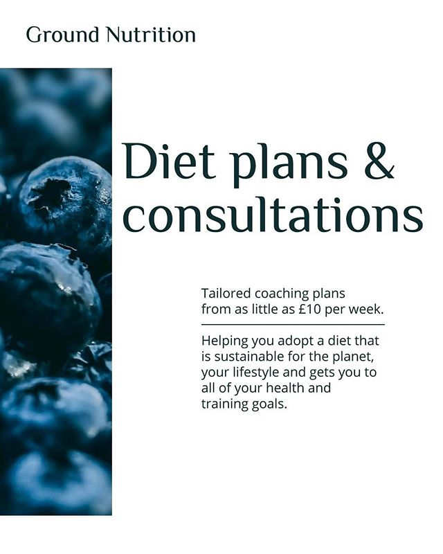Plant-Based Plans by Ground Nutrition 🌿 . For anyone, at any stage of their vegetarian, meat-eating or vegan diet looking to adopt more elements of plant-based diet to achieve their training, body and nutritional goals. . DM, email or visit the website and contact us for more information on which coaching package is the best one for you 🌱 . . #Nutrition #Vegan #PlantBased #Vegetarian #Diet #Training #Performance #WeightLoss #Muscle #Gym #Workout #CrossFit #Nutritionist #London #Design #Coach