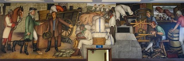 Victor Arnautoff's mural in George Washington High School in San Francisco.
