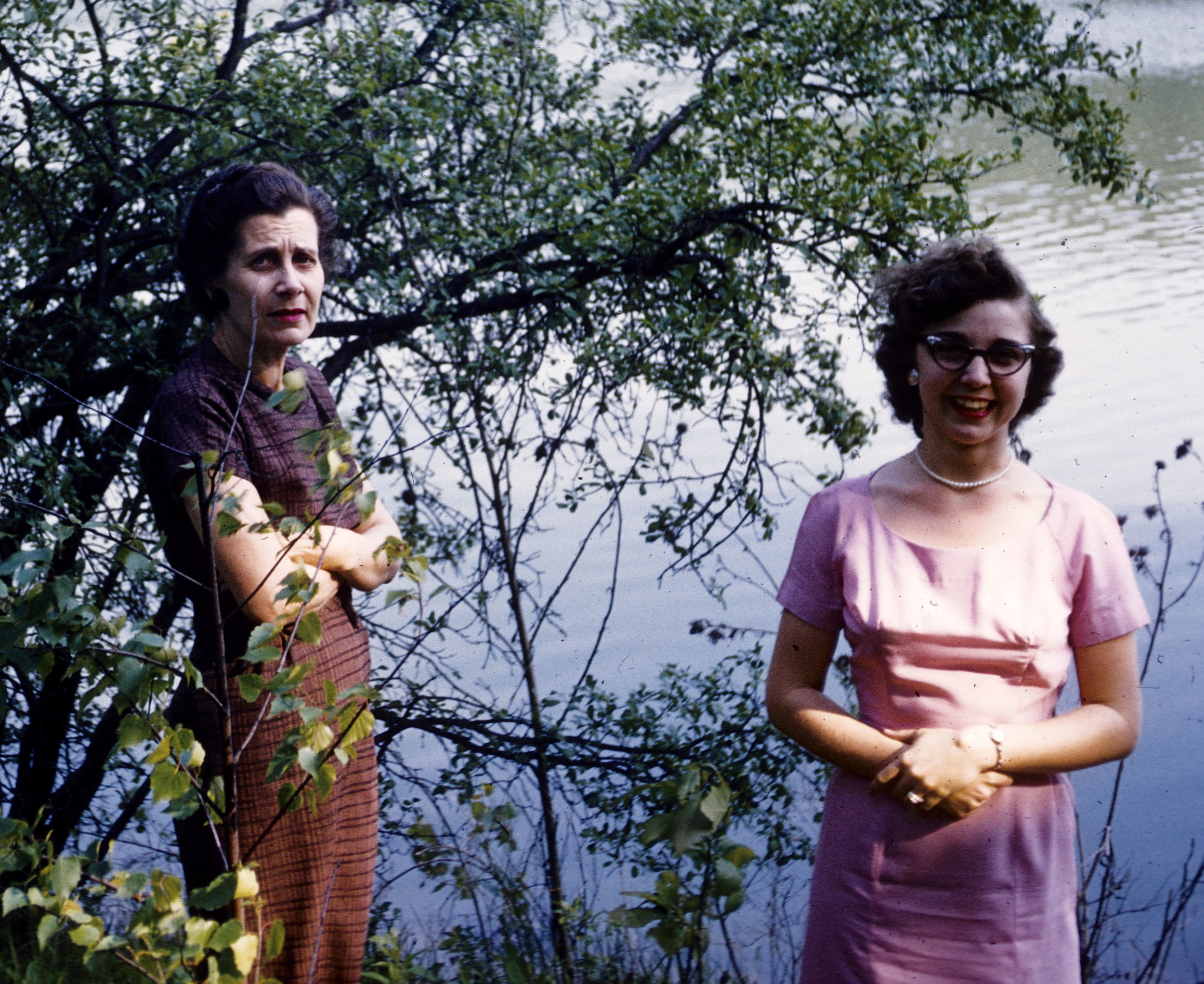 Grandma Lenore and Mom, 1959.
