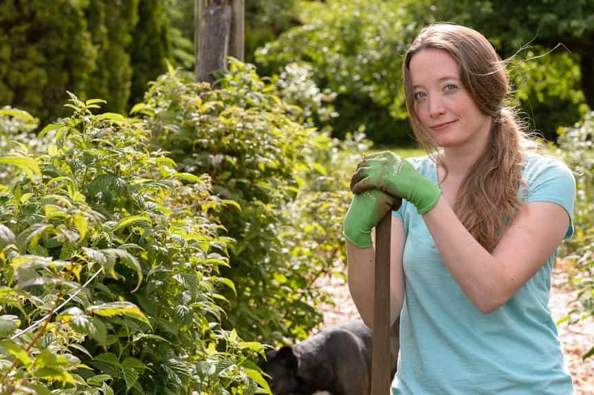 Brittany Baldwin, the Portland Home Chef, in her garden