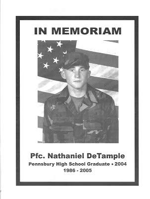 The 2005 Falcons dedicated the season to the memory ofPennsbury graduate, Nathaniel DaTemple, who gave his lifein the service of his country during the war in Iraq.