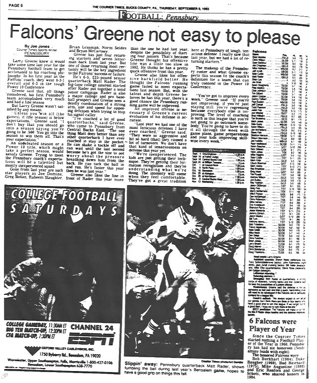 Courier Times September 9, 1993