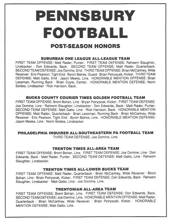 1992 Post Season Honors