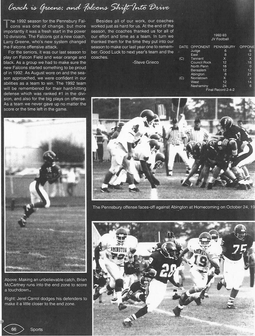 1992-1993 Yearbook; 1992 Season