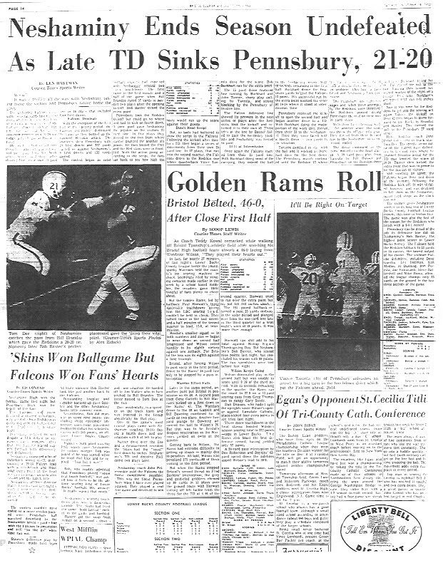 Courier Times Articles from 1963