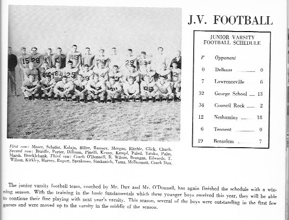 1957-58 Yearbook Junior Varsity Team and Record