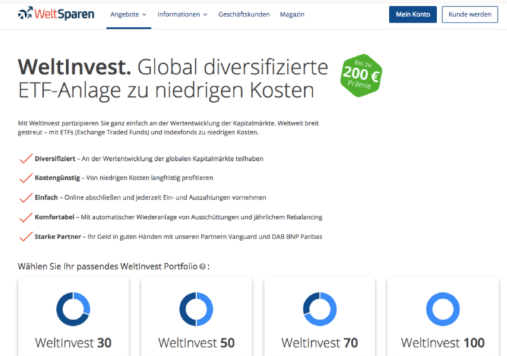 Start investing with Weltinvest